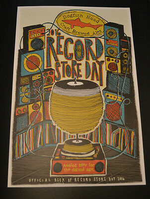 2016 Record Store Day Dogfish Head beer ale promo promotional poster LP