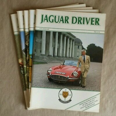 JAGUAR DRIVER Magazines 5 issues: June to November 1994 (Nos. 407 to 412)