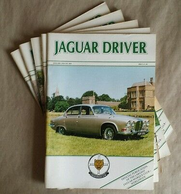 JAGUAR DRIVER Magazines 5 issues: January to May 1994 (Nos. 402 to 406)