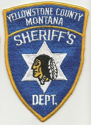 Yellowstone County MONTANA MT Police Sheriff patch Indian OLD