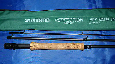 """Shimano Perfection carbon fly fishing  rod 3 piece 10'6"""" trout  #7/9"""
