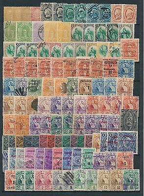 1871-1940 Guatemala stamps, MIX ,  Collection lot 150+ pieces