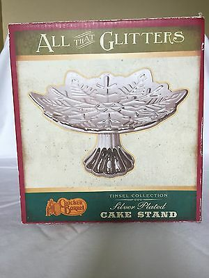 All That Glitters Cracker Barrel Silver Plated Snowflake Cake Stand
