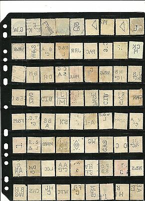 stamps perfins lot from GREAT BRITAIN, Germany and belgium(72 good selection)