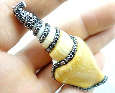 Conch Beach Sea SHELL Gemstone PENDANT Loose Beads necklace  z2