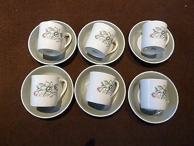 6 Susie Cooper coffee cups and saucers