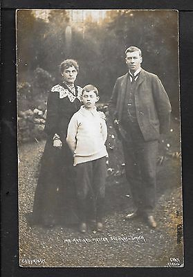 Superb R.p. Postcard Of Mr.mrs.and Master Stewart Smith M.p. For Kendal Cumbria