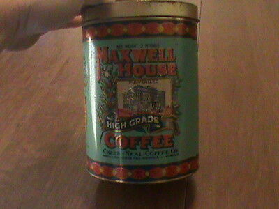 Maxwell house 2 pounds 1979 high grade coffee tin pulverized