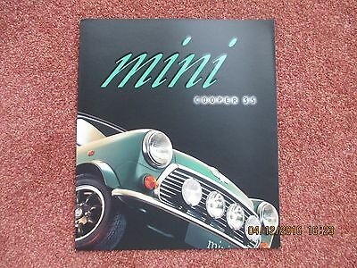 Rover Mini Cooper 35 Limited Edition 1996 UK Market Sales Brochure