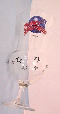"""Planet Hollywood Miami Florida Hurricane Glass 8-3/8"""" Tall  MINT Condition"""