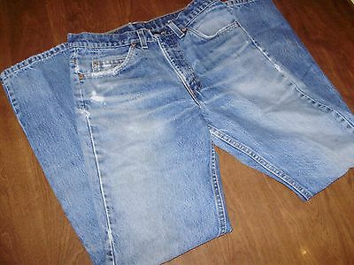 VINTAGE LEVIS 505 ORANGE TAB JEANS 29 x 32 nice fade & patina MADE IN USA