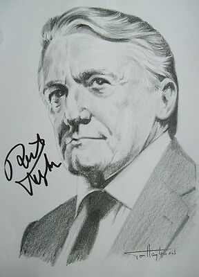 The late ROBERT VAUGHN autograph, Man from Uncle, Hustle etc (See Details)