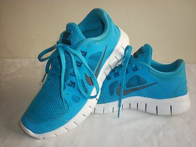 Nike Free Run Running Trainers Size 3, Blue, Worn Once - Excellent Condition.