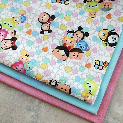 Disney Mickey Mouse Tsum Tsum Group Toss Fun Whimsical Fabric for Quilting Craft