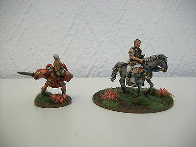 Painted 28mm Ancient Pompey the Great & Marcus Crassus miniatures