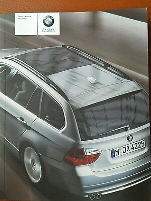 BMW 3 SERIES E91 TOURING 325ix US spec models only ESTATE Manual Owners Handbook