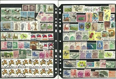 stamps lot, CHINA, TAIWAN STAMPS, USED LOTE #1