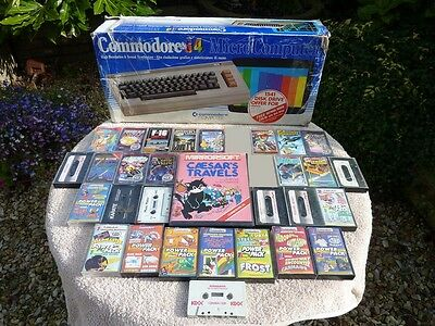 Vintage Boxed Commodore 64 Computer & Lot Of 21+ C64 Games Good Needs Attention