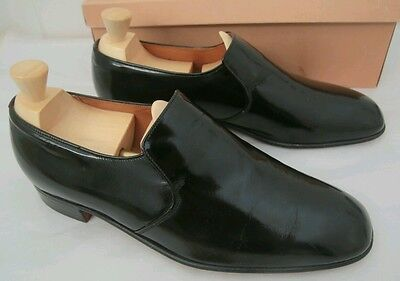 Boxed Vintage Church's Coronet Patent Leather Slip-ons 8.5E G99 Mcafee Dunkelman