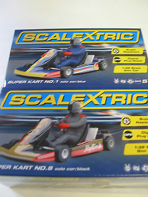 Scalextric Pair Go Karts -  C3667 #8  V C3668 #1  Brand New Mint Boxed