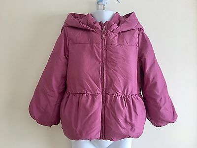 GAP Baby Kids Girls Hooded Winter Padded Coat Jacket. Size 3-4 years - Puffer