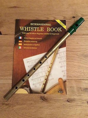 Tin whistle with book for beginners, Great fun.