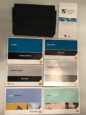 Renault Kangoo Handbook Owners Manual Wallet Service History Book Pack