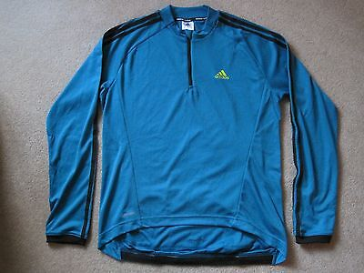 Adidas Response Long Sleeve Cycling Jersey Mens Size Large
