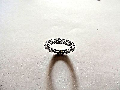 """Modern Classic Solid .925 Sterling Silver """"Eternity Band"""" Ring Size 7"""
