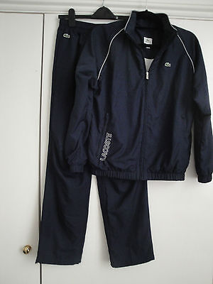 GIRL'S LACOSTE TRACK SUIT - AGE 14 YRS  (164 cm) - NAVY BLUE - SPORTSWEAR