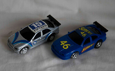 Artin 1:43 Slot Car Road Racing - Two Cars and Controllers - ( Like Scalextric )