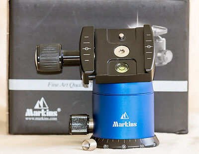 Markins Q3 Emille Ball Head with Knob Release Blue