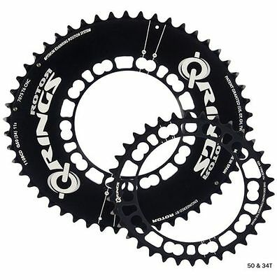 Rotor Q Ring Chainrings 50t-34t 110BCD 5 Bolt