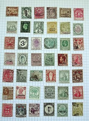 British Colonies collection C.   42 stamps.