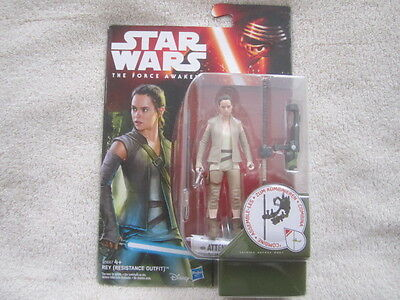 """Star Wars 4"""" Figure - Rey (Resistance Outfit) - Brand New"""