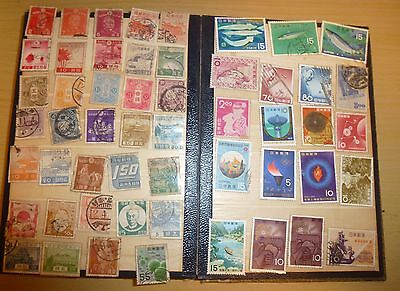 Job lot of 234 Japanese vintage stamps between 10s and 80s + 1899 & Sen (B656)