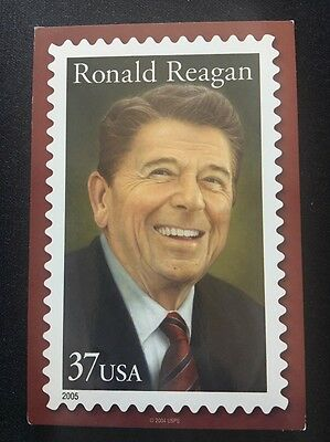 Ronald Reagan 37 Cent Postage Stamp USPS 2005 Post Card