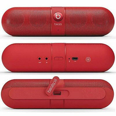 Genuine Beats by Dr. Dre Pill 2.0 Portable Wireless Bluetooth Speaker - Red
