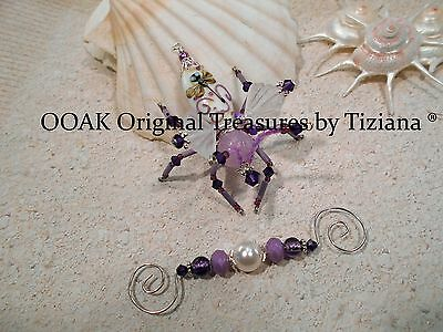 TreasuresbyTiziana® Purple Lavender Dragonfly Butterfly Wings Fairy Bug Insect