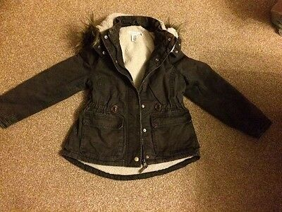 H&M Girls Winter Parka Coat Age 9-10 Years