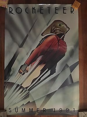 Limited Edition Rocketeer Advance Movie Poster 27x40