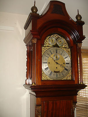 19Th Century 8 Bell London Musical Mahogany Longcase Clock((Courier))