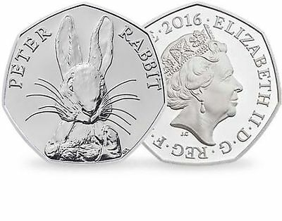 2016  Beatrix Potter Peter Rabbit 50p Coin Collectable. Coin Hunt.