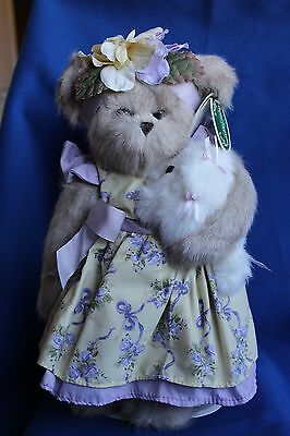 Bearington Bear Prissy And Pup 1642 With Free Stand
