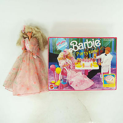 Vintage Barbie Partytime Party TIme Set with Happy Birthday Barbie Doll