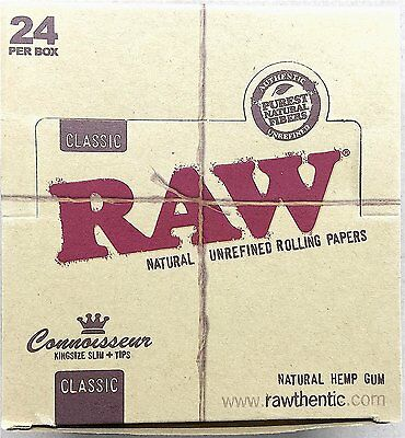 Raw Classic Connoisseur King Size Natural Slim Cigarette Papers
