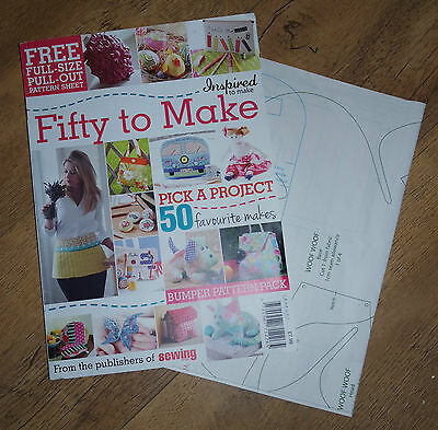 Fifty to Make special craft magazine ~ With Pattern Sheets ~ No Missing Pages