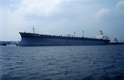 35mm SLIDE OF THE FRENCH TANKER ESSO PICARDIE