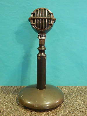 Vintage 1940S Era Astatic JT-30 Microphone With Era PTT Stand Youngstown