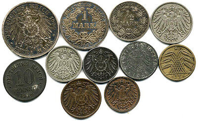 11 Different Early Germany Coins-Some Silver